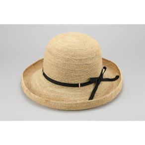 田中帽子店/ ラフィアエイジアップリボン帽子 クレール UK-H093 写真