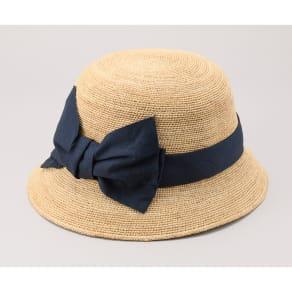 田中帽子店/ラフィア子供用 前リボン女優帽  ミーナ UK-H011MI 写真