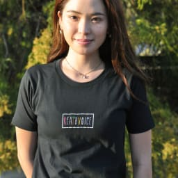 RealBvoice(リアルビーボイス)/パームツリー レディスTシャツ モデル着用…(イ)ブラック