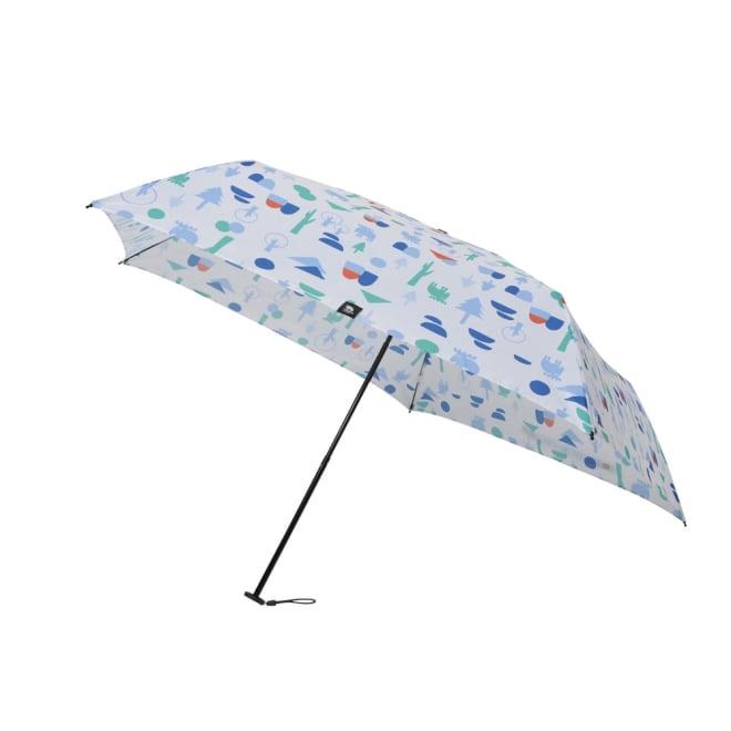 moz(モズ)/UVカット折り畳み傘 フォレストデザイン (ア)フォレストホワイト