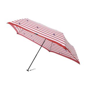 moz(モズ)/UVカット折り畳み傘 ボーダー柄にエルクデザイン 写真