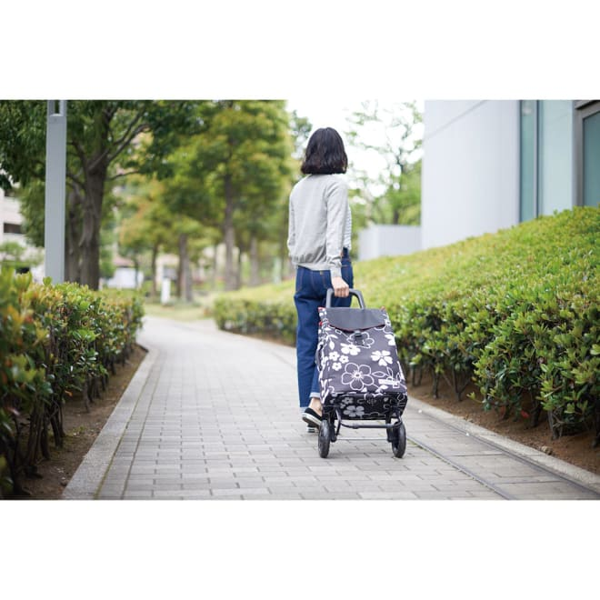 cocoro(コ・コロ)/ショッピングカート FLOWER モデル使用…(エ)ブラック
