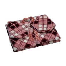 西川京都/洗えるかいまき毛布 チェック柄