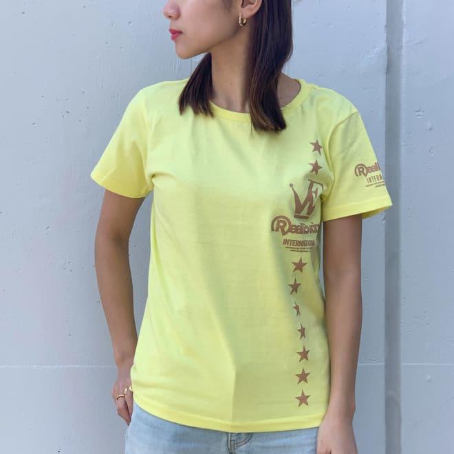 RealBvoice(リアルビーボイス)/ジャパンハート ウェーブファイターレディスTシャツ モデル着用…(ウ)ライトイエロー