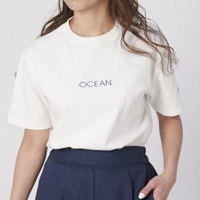 OP(オーシャンパシフィック)/シンプルロゴデザイン レディスTシャツ 写真