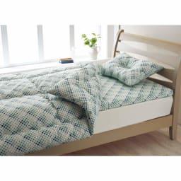 「ファブリーズ」ライセンス寝具/消臭抗菌 西川ふとん3点セット (ア)ターコイズ