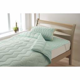 「ファブリーズ」ライセンス寝具/消臭抗菌 西川両面仕様まくらパッド FB0403柄 (ア)ターコイズ ※まくらパッドのみの販売です