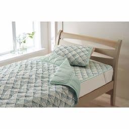 「ファブリーズ」ライセンス寝具/消臭抗菌 西川まくらパッド ドット柄 (ア)ターコイズ ※まくらパッドのみの販売です