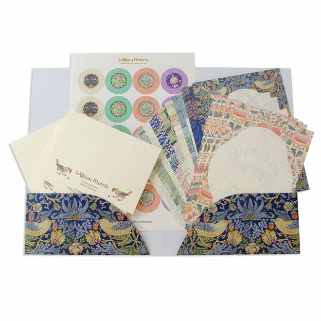 ディアカーズ/美しい絵画のようなレターセット ウィリアム・モリス 便箋、封筒、シール、紙ファイルのセット