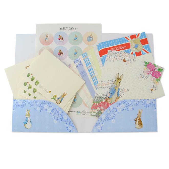 ディアカーズ/美しい絵画のようなレターセット ピーターラビット 便箋、封筒、シール、紙ファイルのセット
