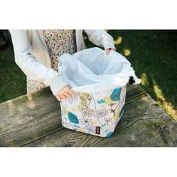 cocoro picnic(ココロ ピクニック)/コクリコ ピクニックバッグL 袋を付けてダストボックスにも