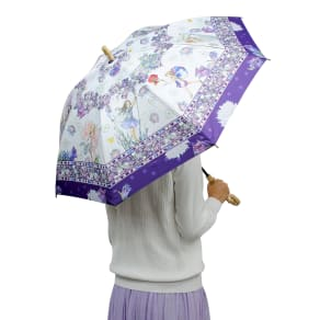 フラワーフェアリーズUVカット晴雨兼用長傘 写真
