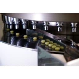 【無料プレゼント】石垣産ミドリムシ(ユーグレナ)×乳酸菌ミドRiCH トライアル(15日分)  国内のGMP工場で製造。乳酸菌ミドRiCHの打錠様子