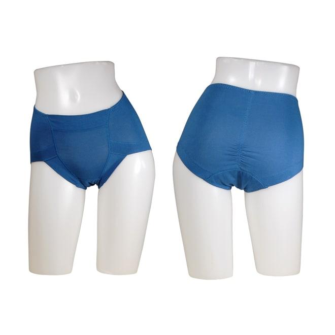 スマートスタイルコンフォータブル吸水ショーツ 4色組【女性用/軽失禁用下着】 ブルー