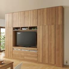 【板見本】天然木調リビング壁面収納シリーズ
