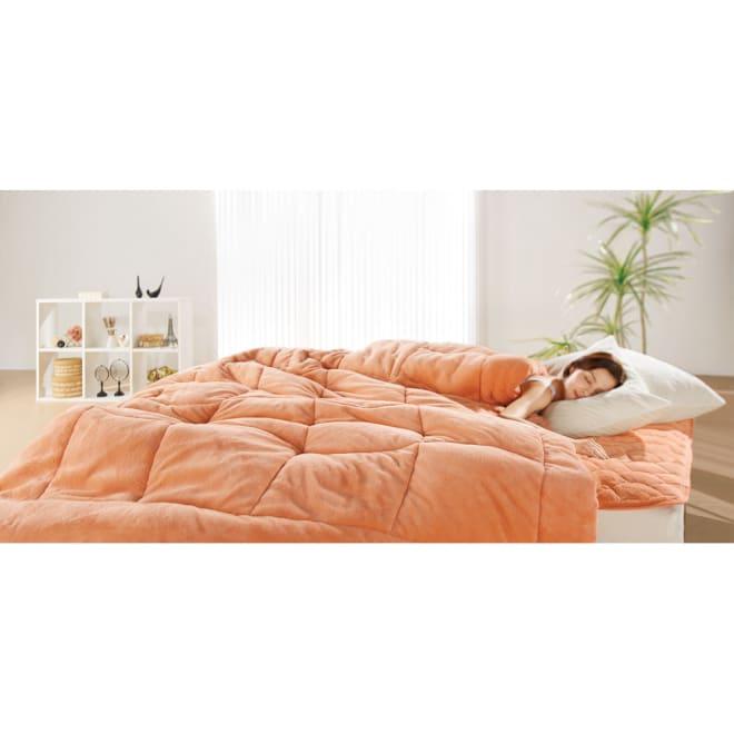 ヒートループDX 「お得な掛け敷きセット」(ダブル) ディノス冬の寝具7年連続販売数NO.1※!中わたの発熱力がパワーアップ!ますます抜け出せない暖かさを生み出します。セットで使えばさらにポッカポカ!電気毛布などに頼りたくない方は特におすすめです。※2012年7月~2019年6月のシリーズ累計販売金額