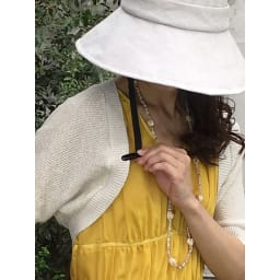 ベル・モード フレンチリネンUVケア帽子 ハットキーパー付きで安心。(ウ)ナチュラル