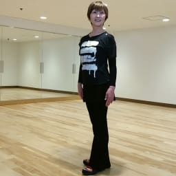 姿勢インストラクター アクティブコア タンクトップ(メンズ) ボディコーディネートインストラクター。国際アクアフィットネス総会で日本人初のプレゼンターを務めたアクアセラピーの第一人者。71歳の今も現役で活躍中。