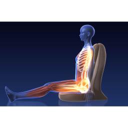 スリム座椅子 ピラトレ ※イメージ ただ座ることがエクササイズに 長くなりがちなご自宅時間が有効に。整った姿勢を保持するための筋肉を鍛えスタイルアップ!