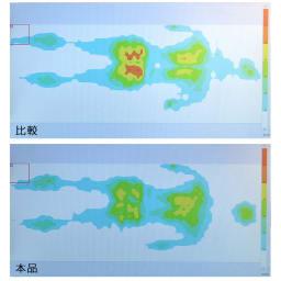 フランスベッド マカロンピロー プレミアム フランスベッドの自社製品比較試験を実施したところ、マカロンピローは体圧が均等に加わり、体への負担が軽減されていることが分かります。※ご使用の環境や体調により、個人差があります。※実験であり、効果を保証するものではありません。