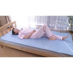 ひんやり除湿寝具 デオアイス 敷きパッドNEO(セミダブル)