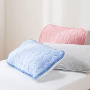 ひんやり除湿寝具 デオアイス NEO ピローパッド (普通判・同色2枚組) 写真