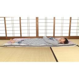 西川 夏のバーゲン寝具セット(シングル6点)・通常お届け 中芯に反発力の高い波形ウレタンを挟み込んだ三層タイプ。体をしっかりサポートしながらふんわり感もあり、硬さとやわらかさのいいとこ取り!