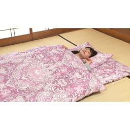 西川 夏のバーゲン寝具セット(シングル6点)・通常お届け 6点フルセット(ア)ピンク