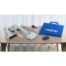 レイコップ コードレスクリーナー 通販限定モデル RHC-500JPWH [セット内容]本体・UVヘッド・パワーヘッド・ハンディノズル・バッテリー2個・充電アダプター・収納袋
