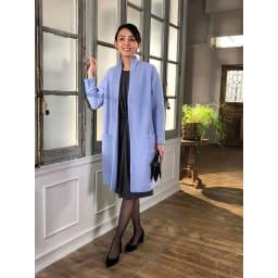 アルパカブークレ コーディガン (キ)ライトブルー…明るくきれいな色合い。よそ行きのワンピースに合わせるととってもフェミニン!大人の女性を可愛く見せます。