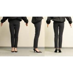 ARIKI あったか大人パンツ 【番組スタッフが実際にはいてみました】身長164cm(着用サイズ:S|普段のボトムスサイズ:XS or S)「柔らかくて穿きやすい!穿いていて気持ちいい!柔らかいのに生地がシッカリしていて、脚のラインを拾わないのがいい。」※チャコールグレー着用