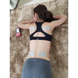 シェイプビート7 Body&Face 【ボディ】●使用例:背中(全体) タテ長で大きな背中の筋肉(脊柱起立筋)もしっかり刺激でき ラクに美姿勢が目指せます