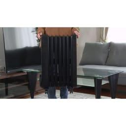 Dimplex/ディンプレックス オイルフリーヒーター B04(タッチパネル式) 本体の重量は約9kg。お部屋の好きな場所に手軽に動かせます。