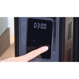Dimplex/ディンプレックス オイルフリーヒーター B04(タッチパネル式) 操作はタッチパネルでカンタン!感覚的に使えます。5℃~30℃(1℃刻み)で温度設定可。オフタイマー・チャイルドロックも搭載!
