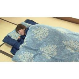 新春初売り 西川の特選寝具 シングルセット(6点+特典2点付き) (イ)ブルー
