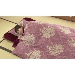 新春初売り 西川の特選寝具 ダブルセット(8点+特典2点付き) (ア)ピンク(※画像はシングルです。)