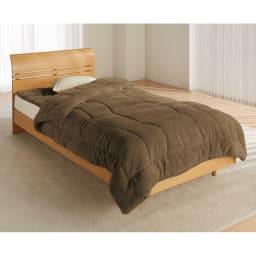 ヒートループDX 「お得な掛け敷きセット」(シングル) (ウ)ブラウン…落ち着いた雰囲気のブラウンはシックな寝室に似合います。