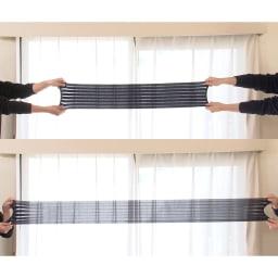らくらく腹圧ベルト 伸縮性の良い特殊な生地で、約2倍に伸びます!良く伸びるのできつめに巻いても苦しくなく、ぴったりフィットします