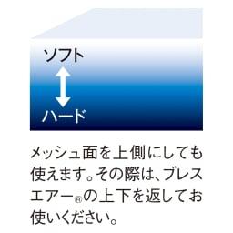 ブレスエアー(R)敷布団NEO(シングル) 上層から下層にいくほど硬さが増していく「硬さグラデーション」ソフトとハードの境目がなく快適な寝心地