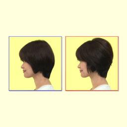 スタイリングブラシアイロン「ヴィエール」 髪の根元にしっかり差し込めるから、頭頂部~後頭部のボリューム出しも簡単!