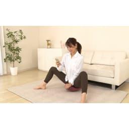 柔ら美人 開脚ベターイージースリム 脚を立てて使ってもOK。股関節がしっかりストレッチされるのを実感!