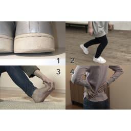 トライウォーカー 1:靴底の減り方が左右非対称。2:何もないところでつまずく。3:足がつりやすい。4:立っていると腰が痛い。もし一つでも当てはまったら、足裏が固まっているサインかも。
