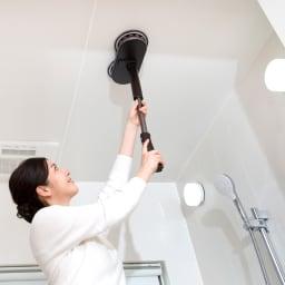 コードレス回転モップクリーナーNeo + 浴室の天井にも!1台あれば家中キレイに!
