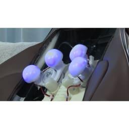 3Dメディカルシート ペルソナ ≪背中≫もみ玉が上下左右前後に動く3D。さらにもみ玉の動きは左右同時→左右交互に変更可能。違ったもみ心地が体感できます。