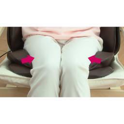 3Dメディカルシート ペルソナ ≪骨盤周り≫エアーバッグの圧迫で疲れが溜まりやすい骨盤周りの血行促進!