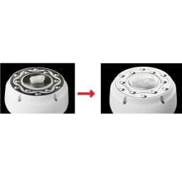 家庭用キャビテーションマシン「キャビスパRFコア」 キャビテーションのパワーを確かめるため、ラードで実験すると、見る見るうちにラードが溶け出します。