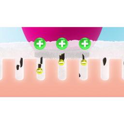 ミーゼ クレンズリフト ○クレンズリフトモードは、音波振動とイオンの力でしっかり洗顔しながら、EMSで引き締めケア!使用目安はお顔全体で約3分。