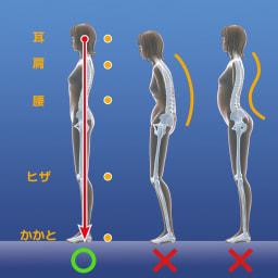 パーフェクトエクサ(R) かかとの真下に重心がくることで、整った立ち姿勢に 肩や腰もラクに