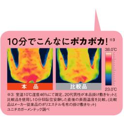 ヒートループDX 「ぬくぬくケット」(シングル) たった10分で、暖かさの違いは一目瞭然!