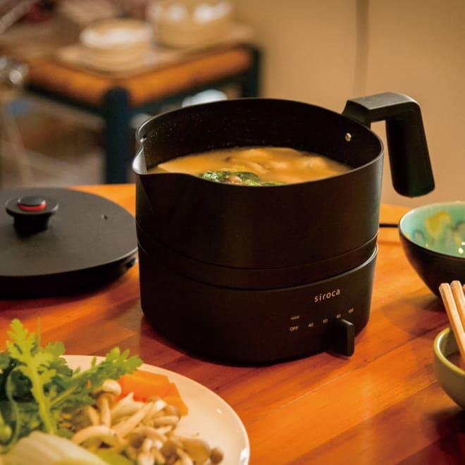 siroca/シロカ おりょうりケトル ちょいなべ SK-M151/SK-M152 1台あれば、「湯沸かし」から「お手軽料理」までマルチに活躍!「電気ケトル」+「お鍋」=『ちょいなべ』